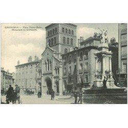carte postale ancienne 38 GRENOBLE. Monument Centenaire Place Notre-Dame