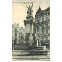 carte postale ancienne 38 GRENOBLE. Monument Centenaire Statue Trois Ordres