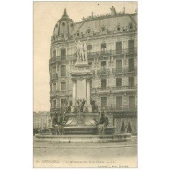 carte postale ancienne 38 GRENOBLE. Monument Trois Ordres vers 1900