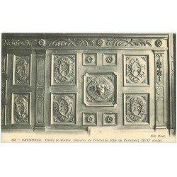 carte postale ancienne 38 GRENOBLE. Palais de Justice. Salle du Parlement