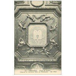 carte postale ancienne 38 GRENOBLE. Palais de Justice. Salle du Parlement Plafond