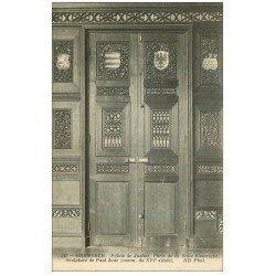 carte postale ancienne 38 GRENOBLE. Palais Justice. Porte Salle historique