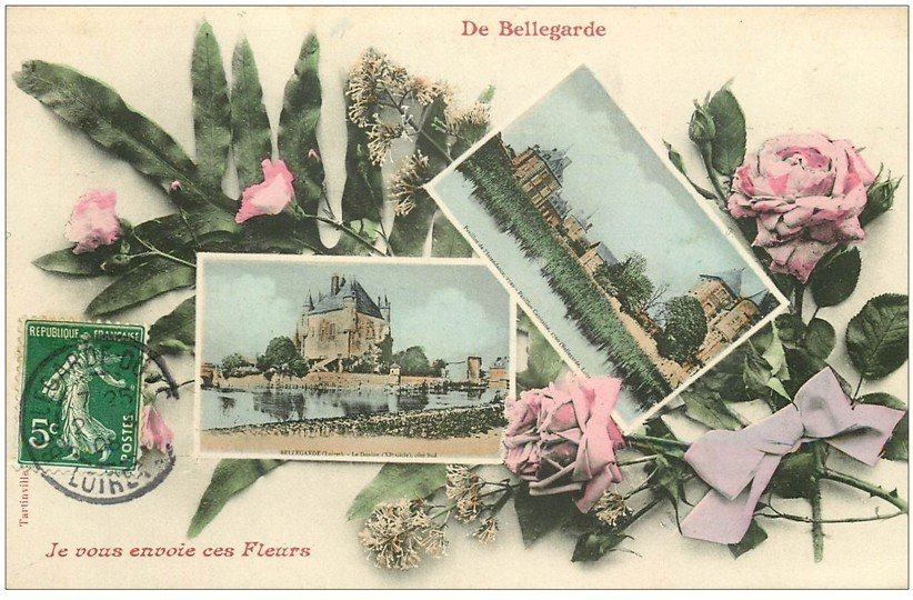 carte postale ancienne de Bellegarde
