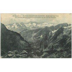 carte postale ancienne 38 MASSIF DES SEPT LAUS. Rochers Rissiou et Grandes Rousses