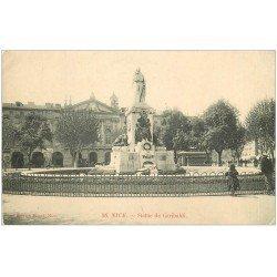 carte postale ancienne 06 NICE. Statue de Garibaldi