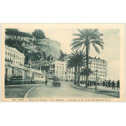 carte postale ancienne 06 NICE. Tour Bellanda montée du Château
