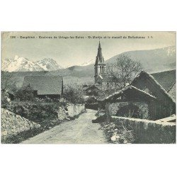 carte postale ancienne 38 SAINT-MARTIN D'URIAGE. Massif de Belledonne 1910