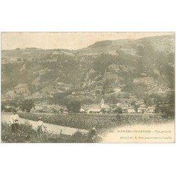 carte postale ancienne 38 SAINT-PIERRE-D'ALLEVARD. Cultivateurs aux Champs 1902