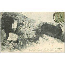 carte postale ancienne 38 SASSENAGE. Cheminée Quatre-Vents 1917 animation