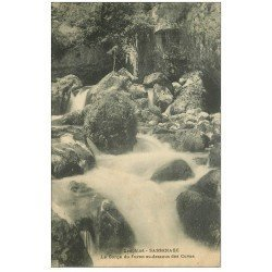 carte postale ancienne 38 SASSENAGE. Cuves Gorges du Furon 1930