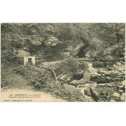 carte postale ancienne 38 SASSENAGE. Passerelle Gorges du Furon 1914