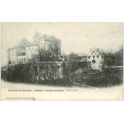 carte postale ancienne 38 URIAGE-LES-BAINS. Château 1906 (pli coin)...