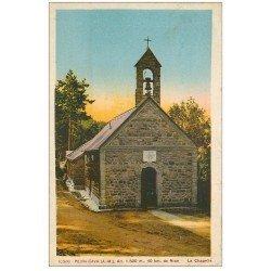 carte postale ancienne 06 PEIRA CAVA. La Chapelle 1949 (pli coin droit)...