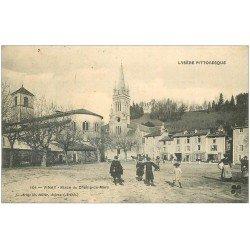 carte postale ancienne 38 URIAGE-LES-BAINS. Place du Champ-de-Mars 1907