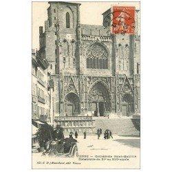 carte postale ancienne 38 VIENNE. Cathédrale Saint-Maurice 1912