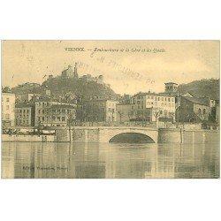 carte postale ancienne 38 VIENNE. La Gère et les Quais 1915