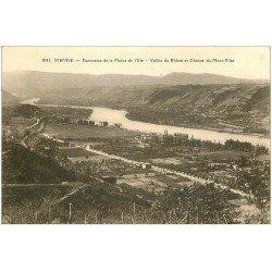 carte postale ancienne 38 VIENNE. Plaine de l'Isle et Chaîne Mont-Pilat 1940