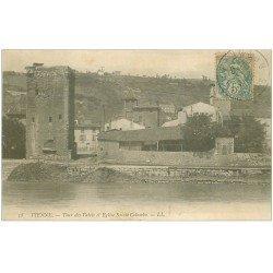 carte postale ancienne 38 VIENNE. Tour des Valois Eglise Sainte-Colombe 1906