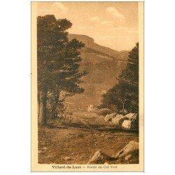 carte postale ancienne 38 VILLARD-DE-LANS. Route du Col vert