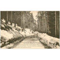 carte postale ancienne 06 PEIRA CAVA. La Route en hiver. Excursions