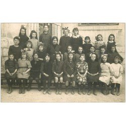 carte postale ancienne Rare 38 PONT-DE-BEAUVOISIN. Carte Photo de Classe. Photographe Lançon