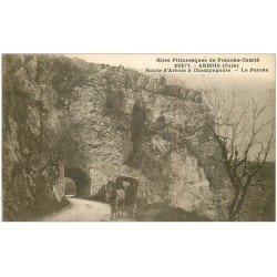 carte postale ancienne 39 ARBOIS. Attelage à la Percée 1933