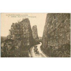 carte postale ancienne 39 ARBOIS. Attelage Route d'Arbois à Champagnole