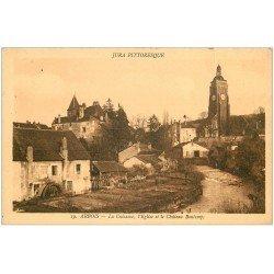 carte postale ancienne 39 ARBOIS. La Cuisance Eglise et Château Bontemps