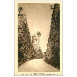 carte postale ancienne 39 ARBOIS. Route de la Percée vers Champagnole