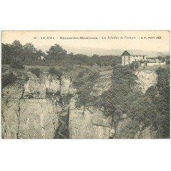 carte postale ancienne 39 BAUME-LES-MESSIEURS. Les Echelles de Crançot 1915