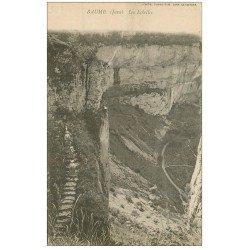 carte postale ancienne 39 BAUME-LES-MESSIEURS. Les Echelles vers 1900