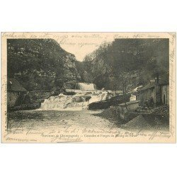 carte postale ancienne 39 BOURG-DE-SIROD. Cascade de l'Ain et Forges 1905