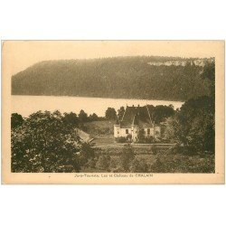 carte postale ancienne 39 CHALAIN. Château et Lac