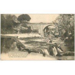 carte postale ancienne 39 CHAMPAGNOLE. Les Deux Ponts
