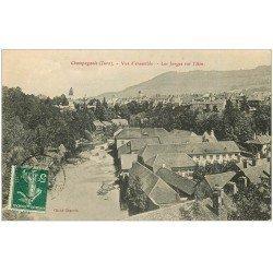 carte postale ancienne 39 CHAMPAGNOLE. Les Forges sur l'Ain 1909