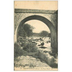 carte postale ancienne 39 CHAMPAGNOLE. Pont Neuf