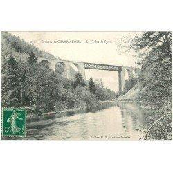 carte postale ancienne 39 CHAMPAGNOLE. Viaduc de Siam 1908