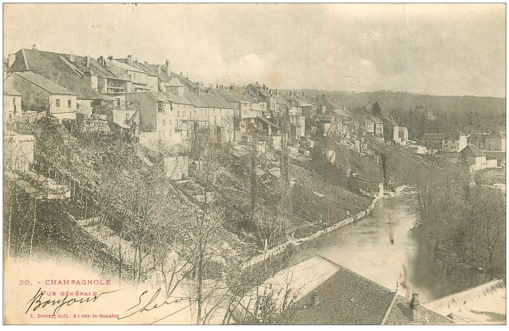 carte postale ancienne 39 CHAMPAGNOLE. Vue générale 1901