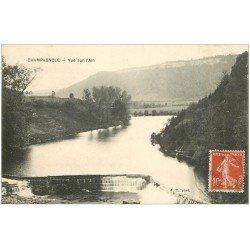 carte postale ancienne 39 CHAMPAGNOLE. Vue sur l'Ain 1912