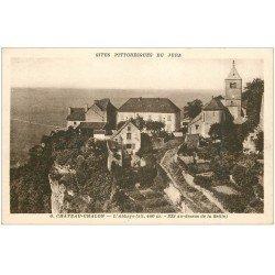 carte postale ancienne 39 CHATEAU-CHALON. Abbaye
