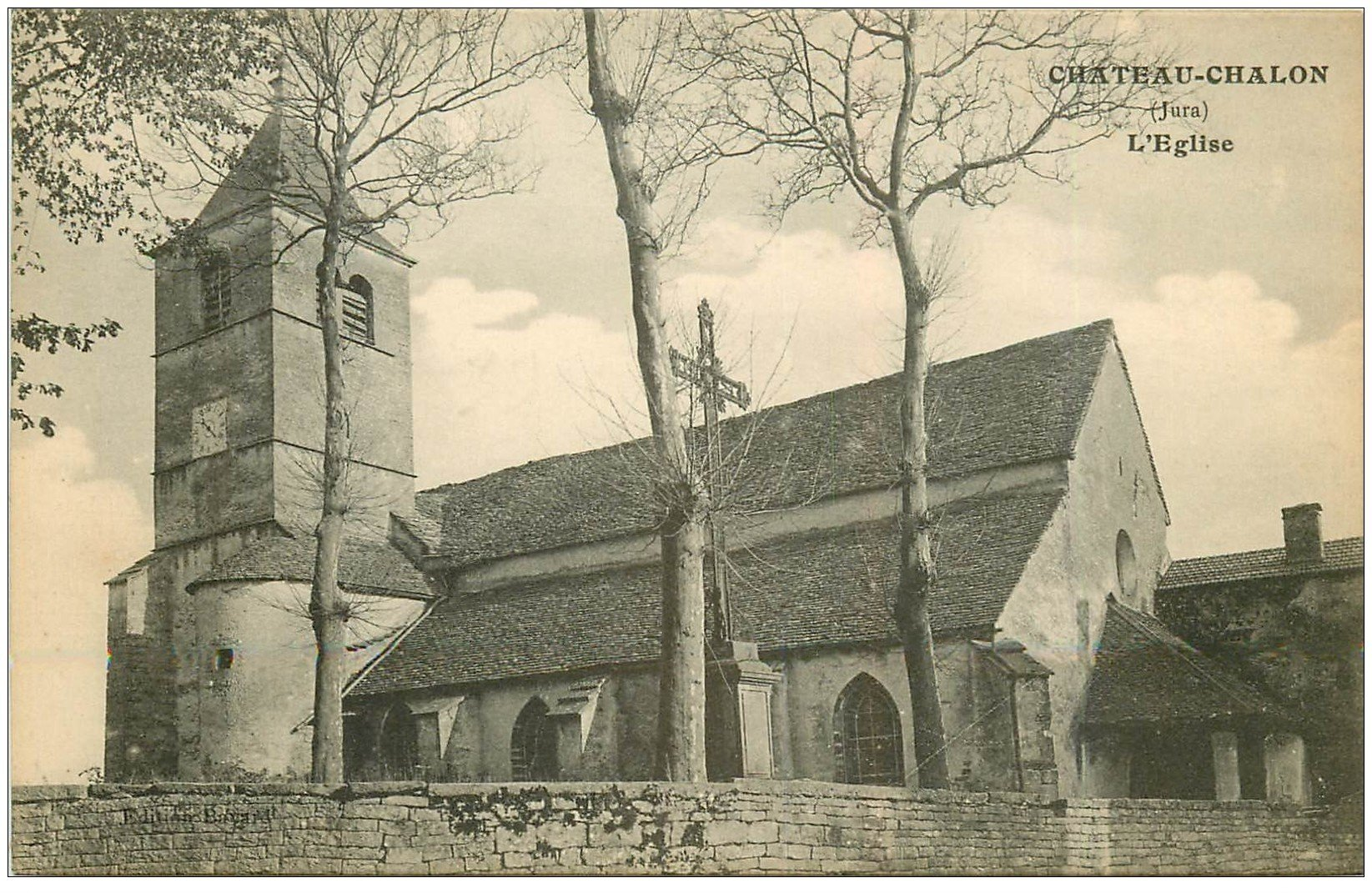 carte postale ancienne 39 CHATEAU-CHALON. Eglise