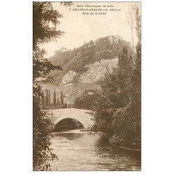 carte postale ancienne 39 CHATEAU-CHALON. Pont sur la Seille