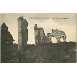 carte postale ancienne 39 CHATEAU-CHALON. Tour Charlemagne 1929