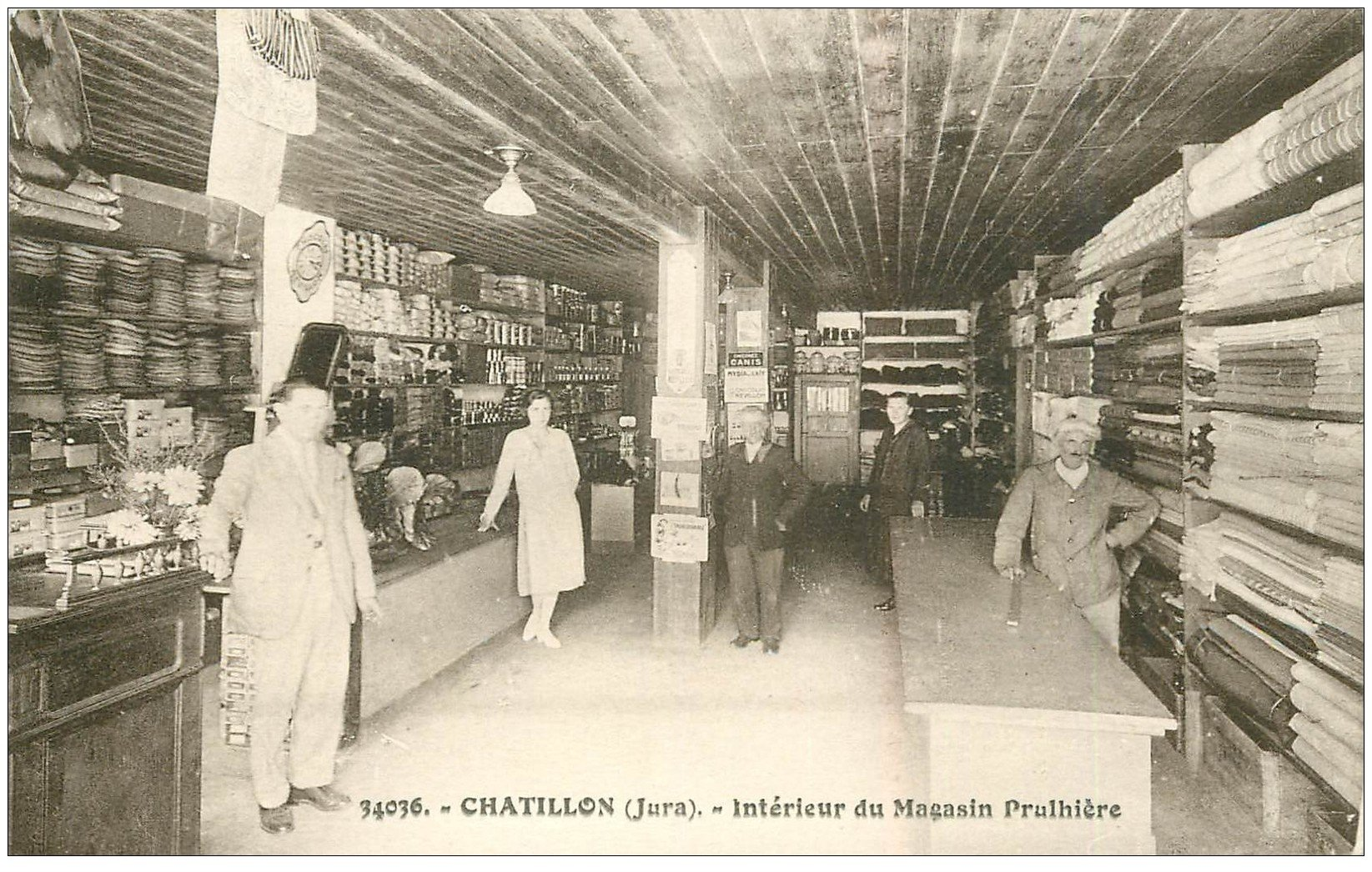 carte postale ancienne 39 CHATILLON. Magasin Prulhière