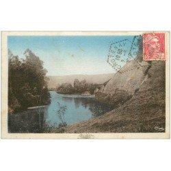 carte postale ancienne 39 CROTENAY. L'ain et la Roche 1948