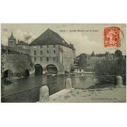 carte postale ancienne 39 DOLE. Moulin sur Canal 1910