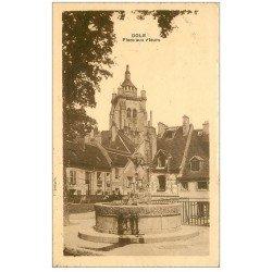 carte postale ancienne 39 DOLE. Place aux Fleurs 1927