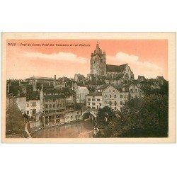 carte postale ancienne 39 DOLE. Pont des Tanneurs et Port du Canal