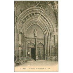 carte postale ancienne 39 DOLE. Portail de la Cathédrale