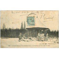 carte postale ancienne 39 LONS-LE-SAUNIER. Pavillon du Parc 1906 + timbre taxe